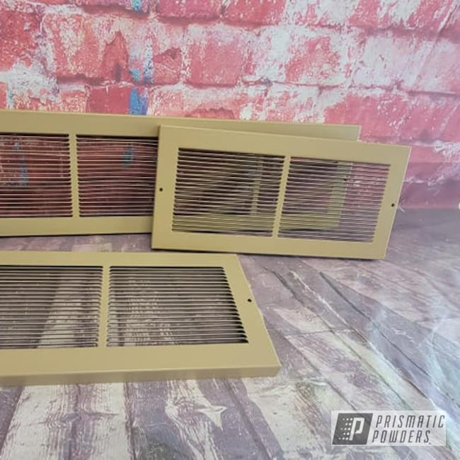 Powder Coating: Stucco Beige PSB-6725,Air Vents,Heat Vents,Registers,Household