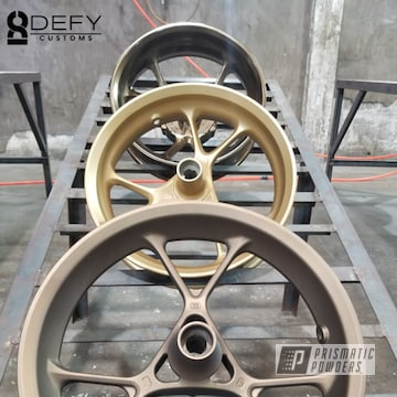 Powder Coated Motorcycle Rims In Pmb-4124, Pmb-6487 And Pps-4005