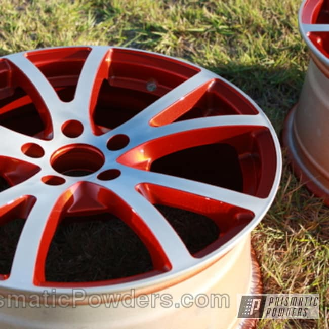 Powder Coating: Wheels,Wheel,Red,Copper,powder coated,Copper Medallion PMB-5570