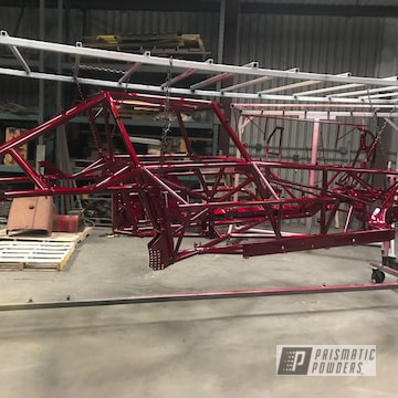 Powder Coated Automotive Frame In Illusion Cherry