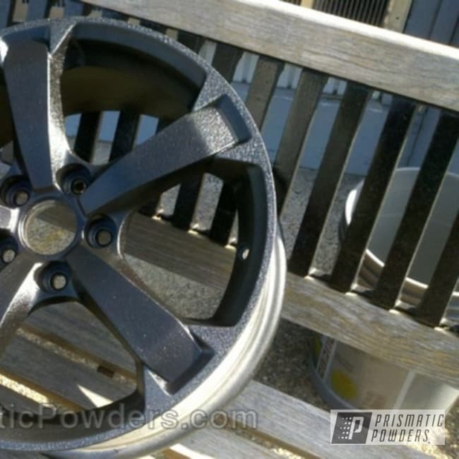 Powder Coating: Wheels,wheel,silver,powder coated,Silver Splatter PWB-3044,Textured,texture