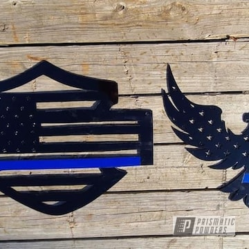 Powder Coated Police Emblems In Uss-2603 And Umb-1930