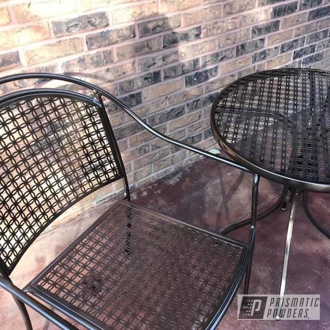 Powder Coating: Patio Chairs,Patio Table,Patio Furniture,Bronze Chrome PMB-4124,Outdoor Furniture,Patio Set