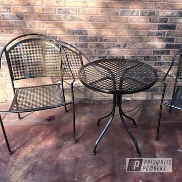 Powder Coated Patio Furniture In Pmb-4124