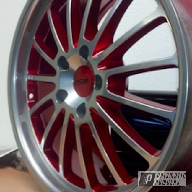 Powder Coating: Wheels,Wheel,SUPER CHROME USS-4482,chrome,LOLLYPOP RED UPS-1506,Red,powder coated,Illusion Copper Plus PMB-5043