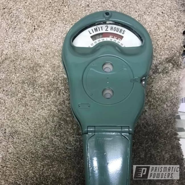 Powder Coating: Parking Meter,Antiques,Restoration,Gutter Green PSB-6809,Parking Meter Restored,Miscellaneous