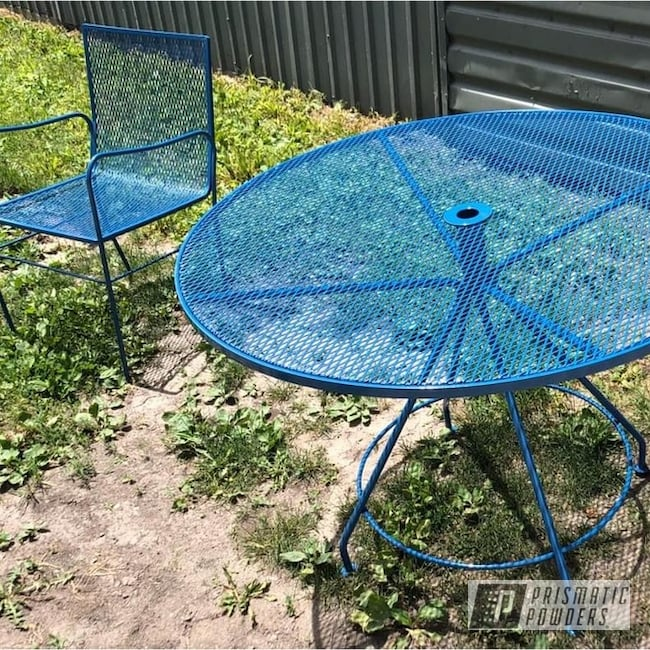 Powder Coating: Patio Furniture,Outdoor Furniture,Patio Set,HARBOR BLUE PSS-0579,Outdoor Patio Furniture