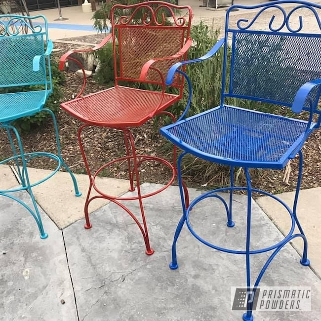 Powder Coating: Clear Vision PPS-2974,Chairs,Bubba PSS-3042,Illusion Red PMS-4515,Pearled Turquoise PMB-8168,Bar Stools,Furniture