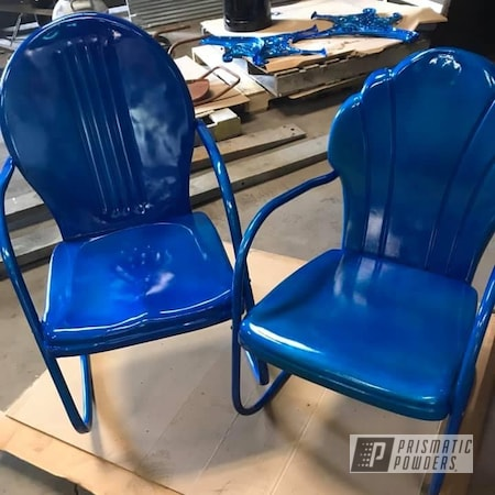 Powder Coating: Clear Vision PPS-2974,Chairs,Illusion Blueberry PMB-6908,Antique Restored,Antique Chairs,Furniture