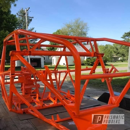 Powder Coating: ATV Frame,ATV,Frame,Striker Orange PPS-4750
