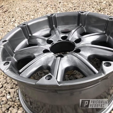 Powder Coating: Wheels,Black Chrome II PPB-4623,Rims,4x4 Wheels