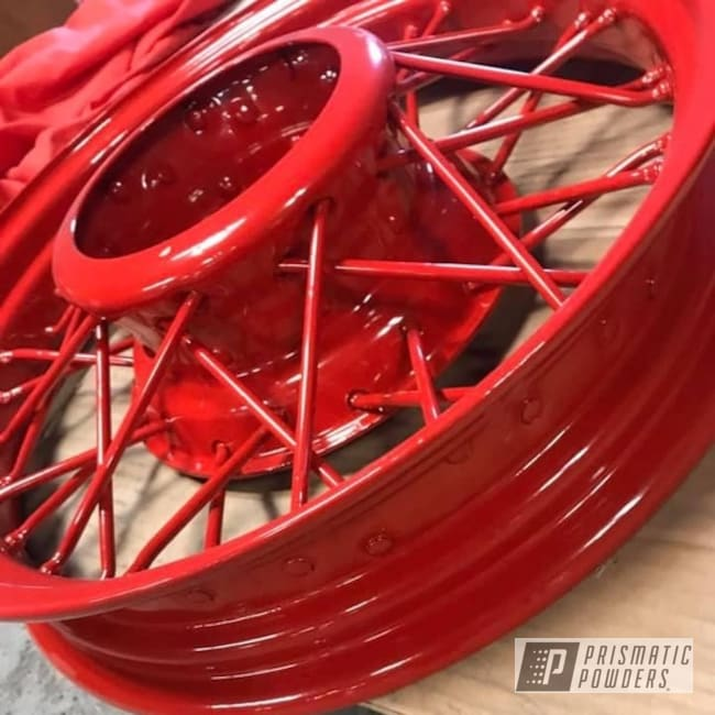 Powder Coating: Wheels,Antique Rims,Rims,Flag Red PSS-0105,Steel Rims