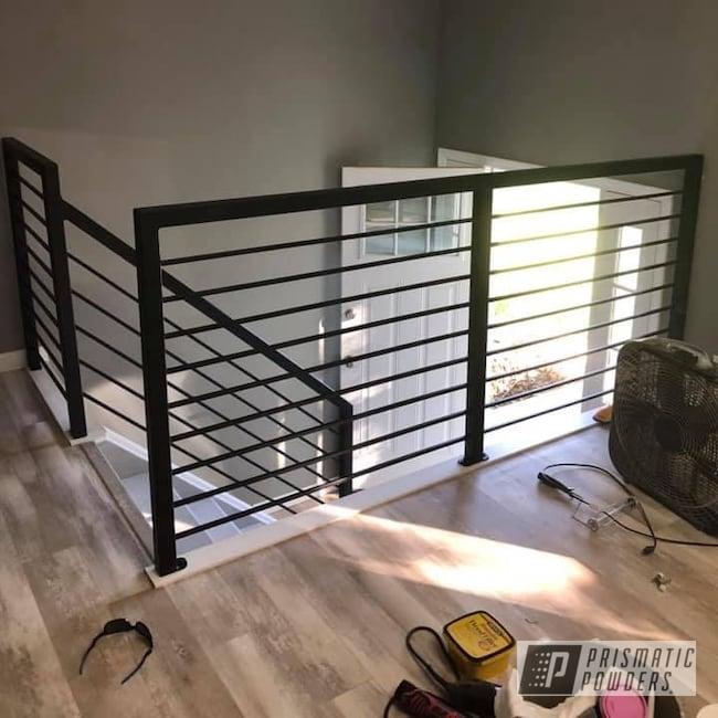 Powder Coating: Railings,Handrails,Handrailings,Flatter Black ESS-4441,Step Railing,Custom Railings