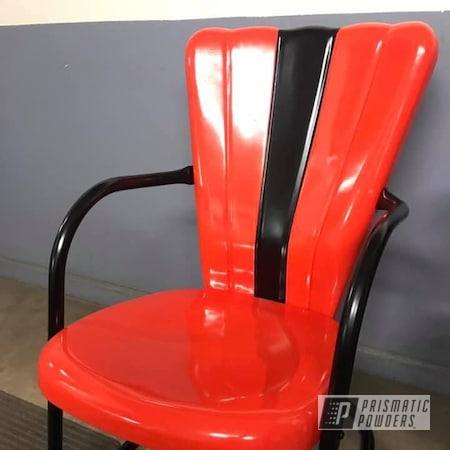 Powder Coating: BLACK JACK USS-1522,New Tucker Orange PMB-4209,chair,Furniture