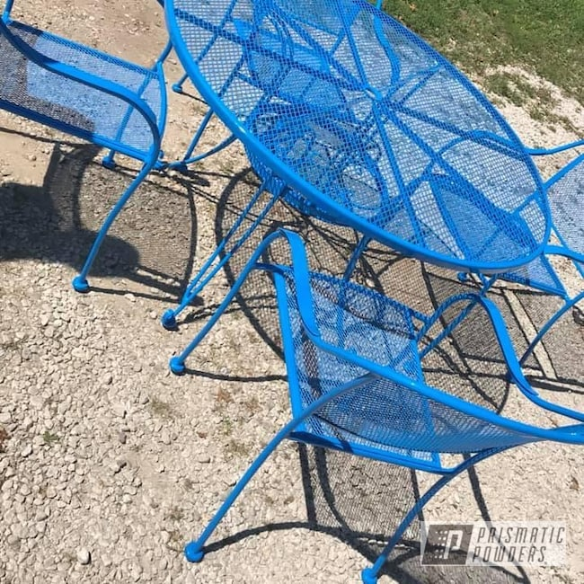 Powder Coating: Patio Chairs,Patio Table,Patio Furniture,Playboy Blue PSS-1715,Outdoor Furniture,Patio Set,Furniture