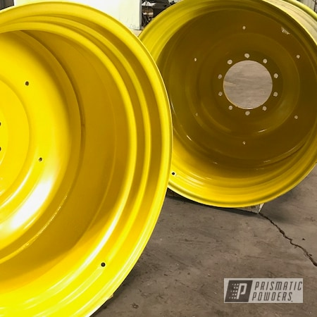 Powder Coating: Wheels,Large Rims,Rims,Tractor Rims,Tractor,Hot Yellow PSS-1623