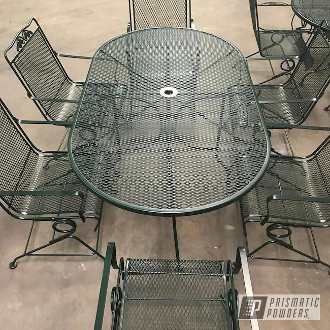 Powder Coating: Patio Furniture,Outdoor Furniture,Patio Set,Restoration Furniture,Dark Green River PRB-4655,Furniture