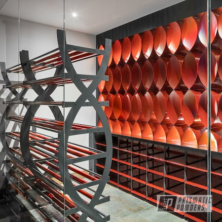 Powder Coating: Illusion Orange Cherry PMB-5509,Clear Vision PPS-2974,Wine Room,Decor,Home Decor,Grey Creation PMB-6332,Furniture,Household