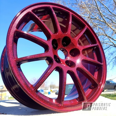 "Powder Coating: Wheels,Clear Vision PPS-2974,18"",BLACK JACK USS-1522,Disco Red PPB-7044,Rims,Mitsubishi,Aluminum Wheels"