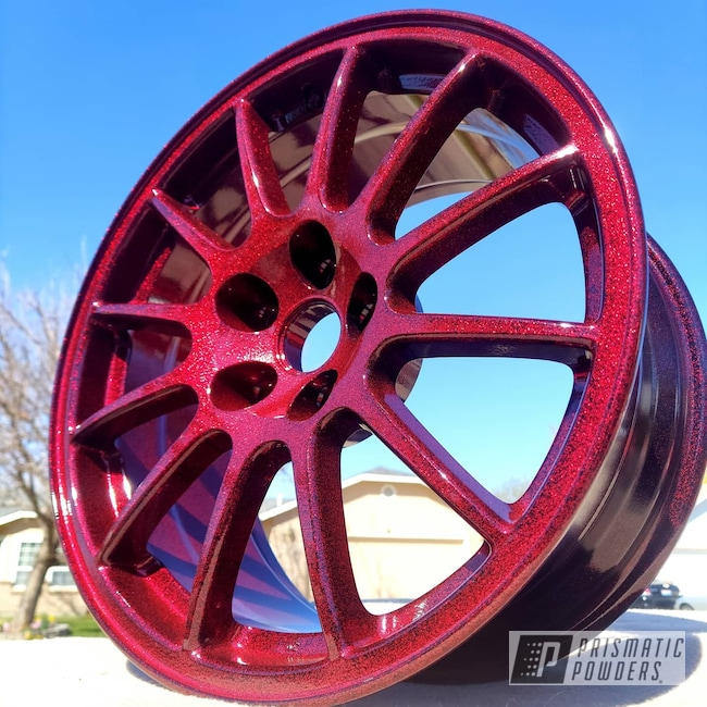 "Powder Coating: Wheels,Clear Vision PPS-2974,18"",BLACK JACK USS-1522,Disco Red PPB-7044,Rims,Mitsubishi,Aluminum Wheels"