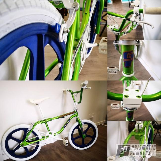 Powder Coating: Illusion,Bike Frame,BMX Bike,Bike,Green,Illusion Sour Apple PMB-6913,BMX,Bicycles,Clear Vision PPS-2974,Powder Coated BMX Frame,Bike Parts,parts,BMX Freestyle,Frame,Illusions,Bicycle Frame