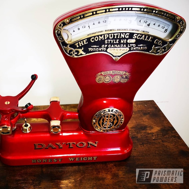 Powder Coating: Antique,Kitchen,Scales,Red,POWERHOUSE RED UPB-5741,Antiques,Custom scale,Restoration,Scale,Powder coated scale