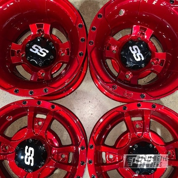 Powder Coated Atv Wheels In Pms-0517 And Pps-4491