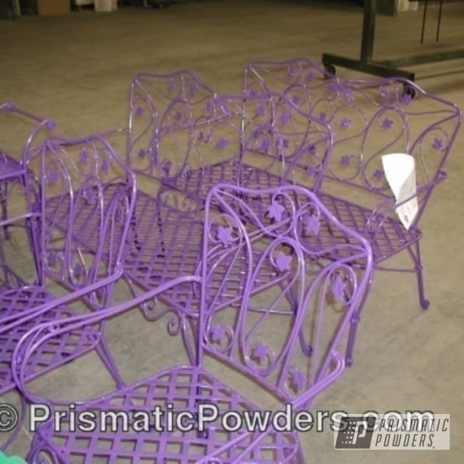 Powder Coating: Dixie Purple PMB-1677,powder coated,purple,outdoor furniture,Furniture