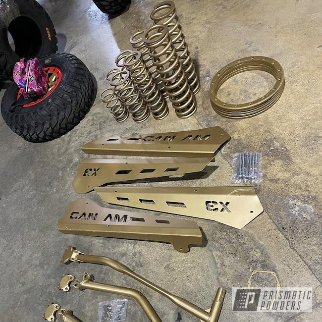 Powder Coating: Coils,UTV,Accessories,Poly Gold PMB-4211,Custom X3,Springs,Maverick X3,Can-Am,Can-am X3,Suspension