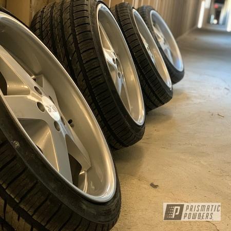 "Powder Coating: Wheels,BMW Silver PMB-6525,Alloy Wheels,18"",Rims"