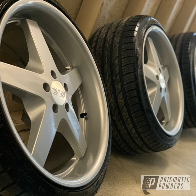 "Powder Coating: Wheels,BMW Silver PMB-6525,Alloy Wheels,18"",Rims"