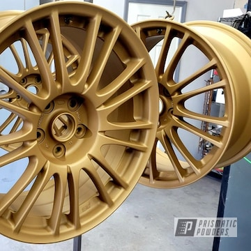 Powder Coated Wheels In Pmb-6487 And Pps-4005