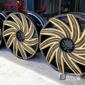 Powder Coated Two Tone Wheels In Pps-2974, Pss-0106 And Ems-0940