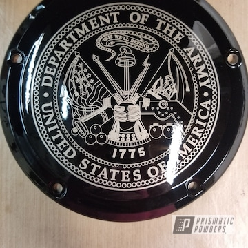 Powder Coated Harley Davidson Derby Cover In Uss-2603