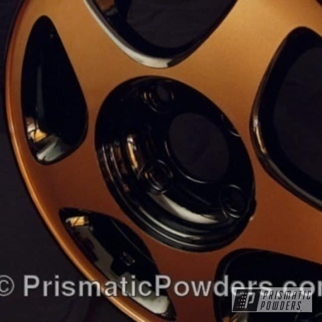 Powder Coating: Wheels,copper,wheel,Copper Jacket PMB-2562,Black,Prismatic powder,Ink Black PSS-0106,powder coated