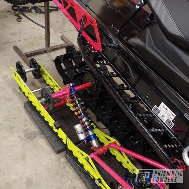 Powder Coating: Snowmobile Parts,Snowmobile,Polaris,Corkey Pink PPS-5875
