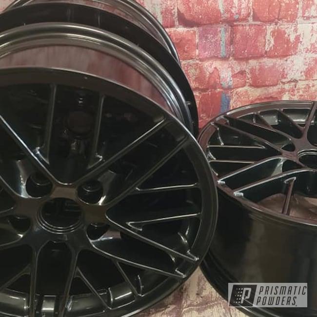 "Powder Coating: Wheels,19"" Wheels,Rims,Aluminum Rims,Lazer Black PMB-4146,19"" Aluminum Rims,Automotive Rims,Aluminum Wheels"