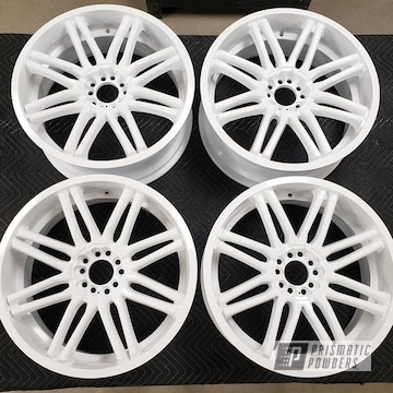 Powder Coated Set Of Wheels In Pss-5690