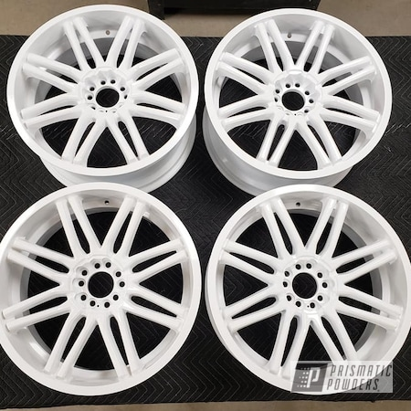 Powder Coating: Wheels,Rims,Gloss White PSS-5690,Aluminum Wheels