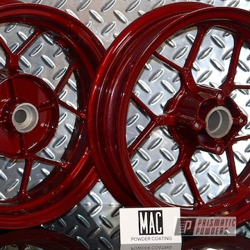 Powder Coated Scooter Wheels In Pps-2974 And Pmb-6905
