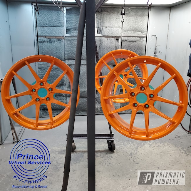 Powder Coating: Wheels,RAL 2011 Deep Orange,Polaris Wheels,Ink Black PSS-0106,Slingshot,Polaris Slingshot,Orange Madness,Color Match,Alloy Wheels,Rims,Motorcycle Wheels,Polaris,Polaris Slingshot Wheels
