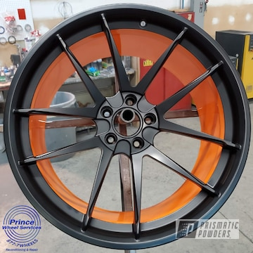 Powder Coated Two Tone Polaris Wheels In Pss-0106 And Ral 2011