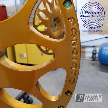 Powder Coated Forgiato Wheels In Hss-2345 And Ppb-2331