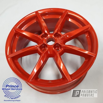 Powder Coated Mazda Wheels In Pps-2974 And Pms-4515