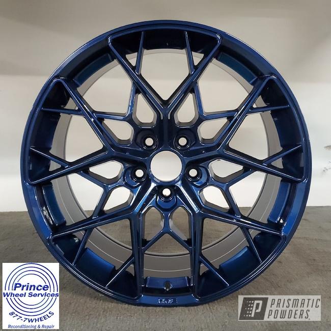 Powder Coating: Wheels,Alloy Wheels,Clear Vision PPS-2974,Rims,SUNSET BLUE PMB-5368,Automotive Wheels