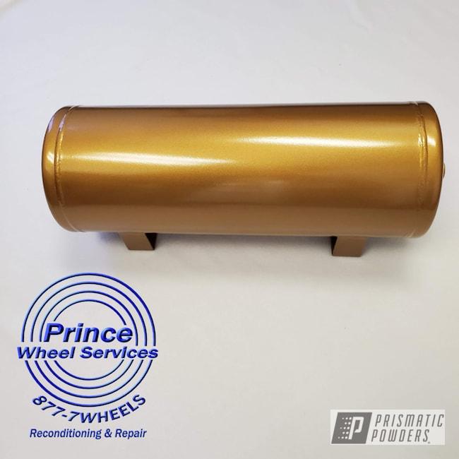 Powder Coating: Air Tank,Automotive,Suspension Parts,Air Ride,Tomic Gold II EMB-4448,Suspension