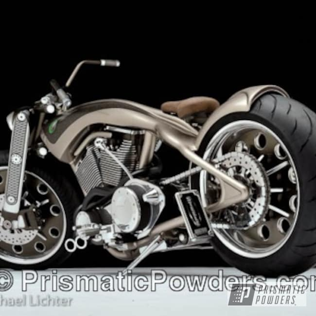 Powder Coating: Stone Bronze PMB-2106,Bronze,powder coating,Motorcycles