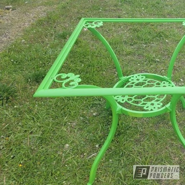 Powder Coating: Patio Table,RAL 6018 Yellow Green,Vintage Furniture,Outdoor Patio Furniture,lawn furniture,Furniture