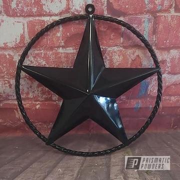 Powder Coated Metal Star In Uss-2603