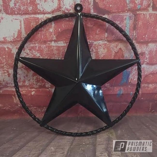 Powder Coating: Star,Yard Art,GLOSS BLACK USS-2603,Patriotic,Metal Sign